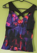 Bebe Peplum Sleeveless Top Size XS