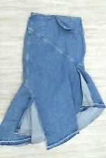 MONSE Women's Denim Trumpet Skirt Blue Size: 6 NEW #3