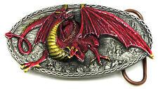 Dragon Belt Buckle Traag Mythical Fantasy Sci fi Authentic Bulldog Buckle Co