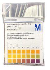 pH-indicator strips (non-bleeding) box of 100, 5.0-10.0 range