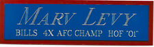 MARV LEVY NAMEPLATE FOR AUTOGRAPHED Signed Football HELMET JERSEY PHOTO