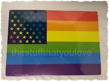 RAINBOW American Flag Tin Sign 8 1/4 x 11 5/8 (SM320) Pride