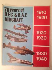 70 Years Of RFC & RAF Aircraft - Fold Away Chart 1910 - 1990