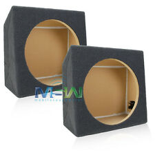 "(2) SHALLOW-MOUNT MDF UNDER SEAT CAR SUBWOOFER BOX ENCLOSURES for 12"" SUBWOOFERS"
