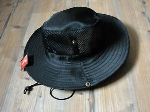 Angler Hut Safarihut Sonnenhut Schlapphut Netz Kinnband schwarz Ausverkauf