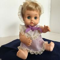 """Playmates Tender Touch Doll 1970s 11"""" Drink and Wet Sleep eyes"""