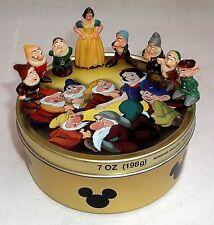 Vintage 60s Marx Snow White & 7 Dwarfs Disneykins Figures w/Vintage German Tin