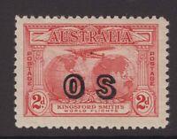 Australia 2d bridge OS overprint MH ACSC 141 (OS) CV $175 as MH