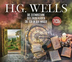H.G.Wells*3 Hörspiele*DER ZAUBERLADEN*DIE TÜR IN DER MAUER*DIE ZEITMASCHINE**NEU
