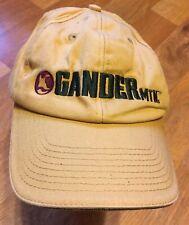 Light Tan Gander Mountain Hat Adjustable Strap Green Embroidered Lettering