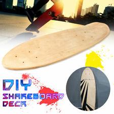 24'' 7 Layers Maple DIY Blank Fish Deck Board Skateboard Natural