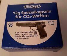 Lote 2 cajas con 10 Capsulas CO2 Walther de 12 gramos. (20 capsulas)