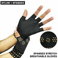 Arthritis Gloves Fingerless Copper Compression Hand Wrist Support Pain Relief