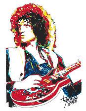 Brian May, Queen, Rock Guitar Player, Guitarist, Hard Rock, 8.5x11 PRINT w/COA