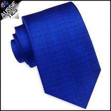 Royal Blue With Micro Check Texture Mens Tie Men's Necktie