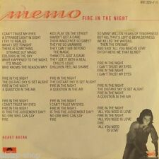 "7"" MEMO KURT Fire In The Night b/w Heart Break POLYDOR Info-Sheet Synth-Pop 1984"