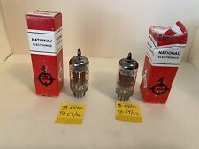 NATIONAL TUBES - 12AX7A - LOT OF 2 - CLOSELY MATCHED PAIR - BLUE TIP - TESTED
