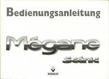 RENAULT   MEGANE SCENIC  Betriebsanleitung 1998 Bedienungsanleitung Handbuch BA