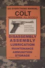 Colt Woodsman All Models Do Everything Manual