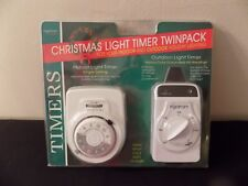 ingraham christmas light timer twin pack model 12 806 indooroutdoor - Christmas Light Timers