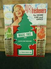 Retro 1960's/70,s Old shop stock display card of 24 Magic Tree Air Freshners VGC