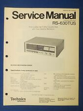 TECHNICS RS-630TUS CASSETTE SERVICE MANUAL ORIGINAL FACTORY ISSUE REAL THING
