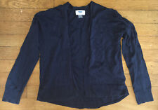 * old navy solid blue waterfall open Long Sleeve Cardigan Sweater top 10 - 12