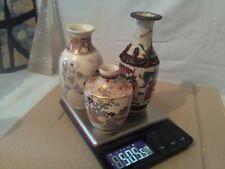 Small Oriental Vases X3  small satsuma...read discription....