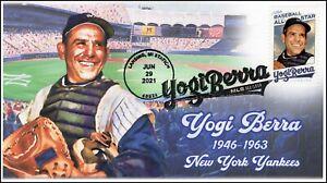 21-141, 2021, Yogi Berra, Event Cover, Pictorial Postmark, Lansing MI, Yankees,