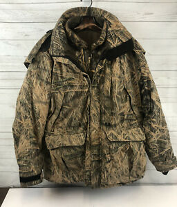 2 Piece Browning Gore-Tex Camo Shadow Grass Coat Jacket Hooded Size XL Hunting