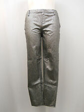 Jeggings Size XL 16-18 Faded Glory Ladies Coated Foil Print Back Pockets Silver
