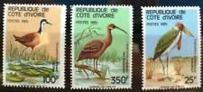 COTE D'IVOIRE oiseaux, birds, pajaros. Yvert N° 720A/C. ** neuf sans charnière