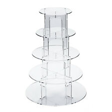 4/5/7 Tier Cupcake Stand Clear Acrylic Holder For Wedding&Party Cake Display