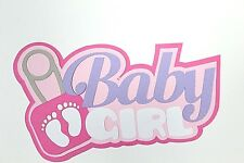 Girl Baby Title Paper Peicing Premade  Border Scrapbook album Die Cut Peice