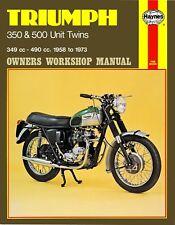 Triumph 350 500 Unit Twins 1958 to 1973 Haynes Workshop Manual 137