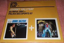 NEUF SCELLE JOHNNY HALLYDAY CD DIGIPACK 2 ALBUMS CD OLYMPIA 64+PALAIS SPORTS 67