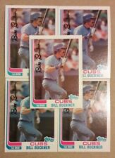 1982 TOPPS CHICAGO CUBS BILL BUCKNER 5 CARD LOT NM/MT 00218