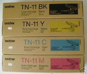 4 x Original Toner Brother HL-4000 HL-4000cn / TN-11 BK TN-11C TN-11M TN-11Y OVP