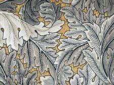 William Morris Curtain Fabric 'Acanthus' 46cm Mustard / Grey - Velvet!