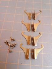 8 Window Shade Blind Bracket Holders with Screws Brass Plated Vintage