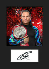JEFF HARDY #1 (WWE) Signed (Reprint) Photo A5 Mounted Print - FREE DELIVERY