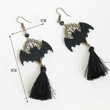 Hook Earrings Gothic Bat Tassel Long Dangle Women Halloween Club Jewelry Fashion