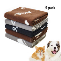 Fleece Pet Blanket Washable Warm Soft Bed Cushion for Dog Cat Small Puppy Throws