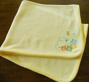 Just One You Carter's Cute as a Bug BUMBLE BEE Yellow Baby Blanket Unisex Fleece