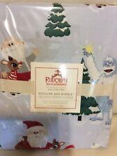 Pottery Barn Kids Organic Rudolph & Bumble Twin Duvet NWT Blue Christmas Holiday