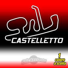 ADESIVO PVC CIRCUITO CASTELLETTO di Branduzzo prespaziato auto moto sticker