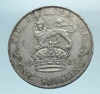 1925 Great Britain UK King George V United Kingdom SILVER SHILLING Coin i78373