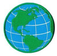 Patch écusson patche Terre planète thermocollant hotfix brodé badge