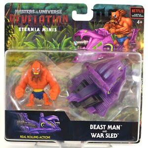 Masters of the Universe MOTU Revelation Beast Man War Sled Eternia Minis Figure