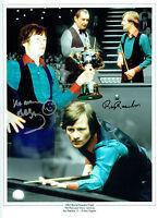 Alex HIGGINS Ray REARDON Signed Autograph 16x12 MONTAGE Snooker Photo AFTAL COA